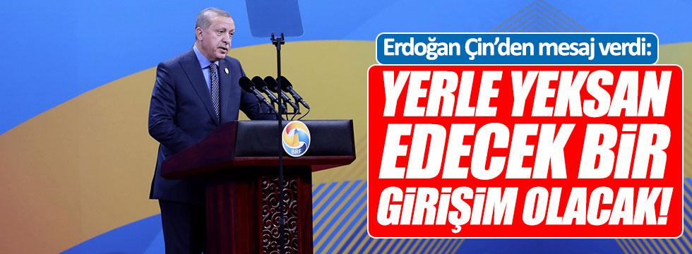 """Erdoğan: """"Adeta terörü yerle yeksan edecek bir girişim"""""""
