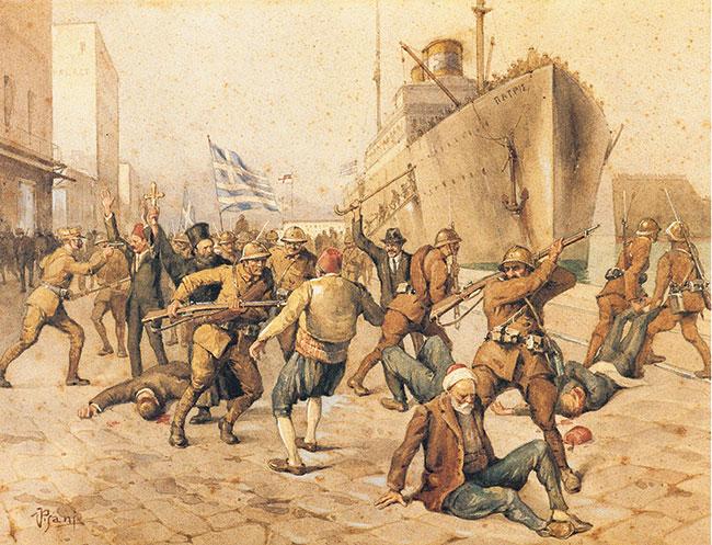 İzmir'in işgali faciasına tablolarıyla tanıklık etti