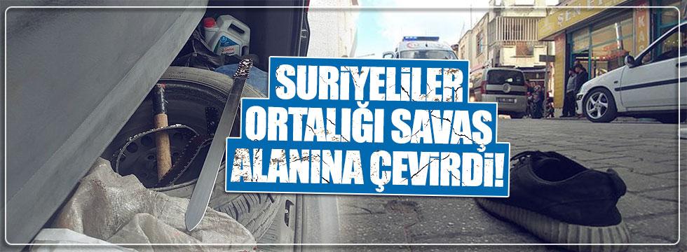 Konya'da Suriyeliler birbirine girdi