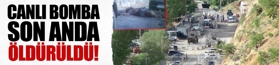 Tunceli'de canlı bomba son anda öldürüldü!