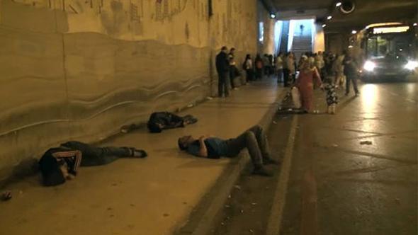 Taksim'de şoke eden görüntüler