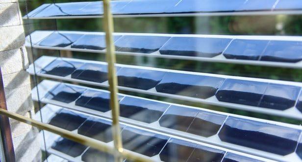 Güneş Panelli Panjur Elektrik Üretiyor