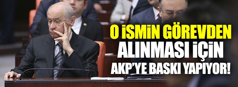 Bahçeli, Türkeş'in görevden alınması için baskı yapıyor!
