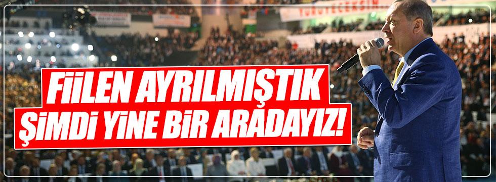 Erdoğan vatandaşlara ve partililere seslendi