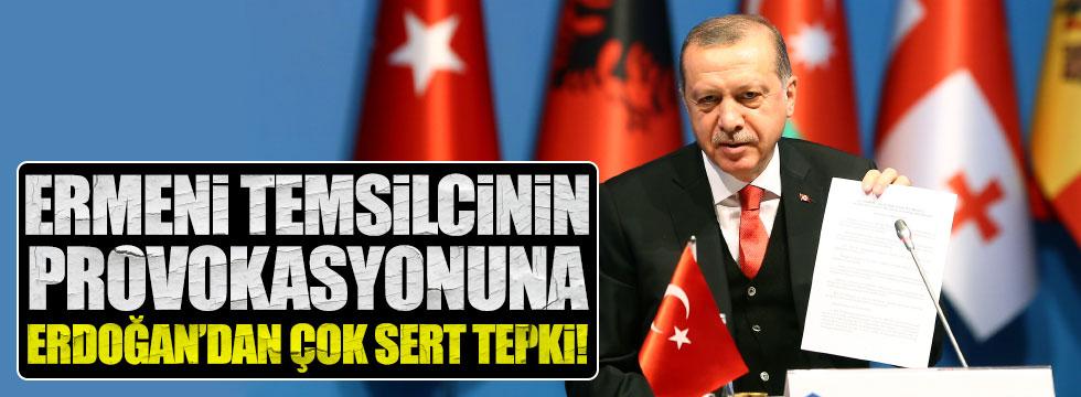 Erdoğan'dan Ermeni temsilciye tepki