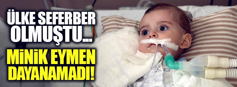 SMA hastası Eymen bebekten acı haber