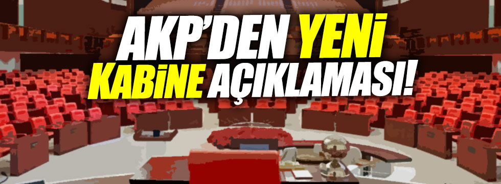 AKP'den 'kabinede revizyon' açıklaması