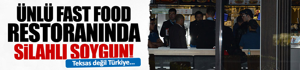 Kadıköy'de fast food restoranına soygun