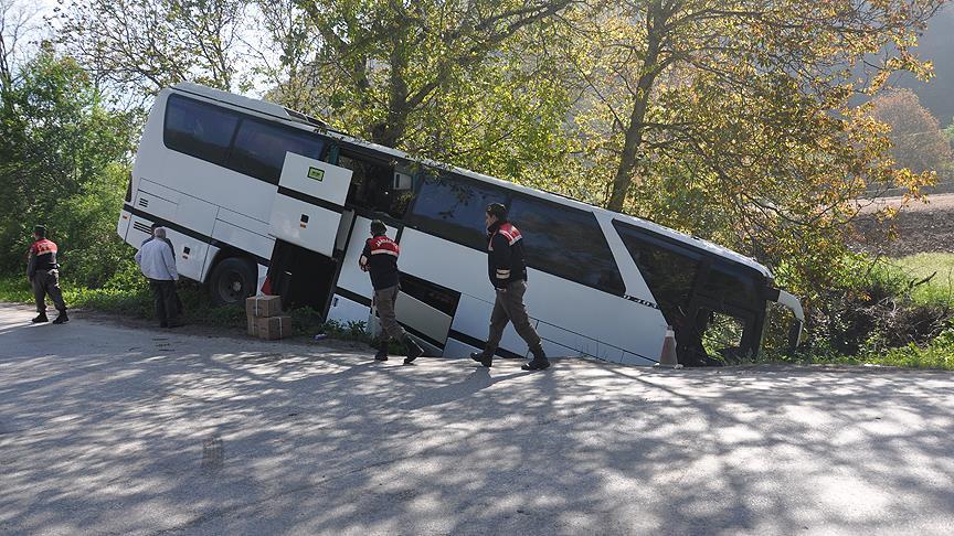 Bolu'da otobüs kazası