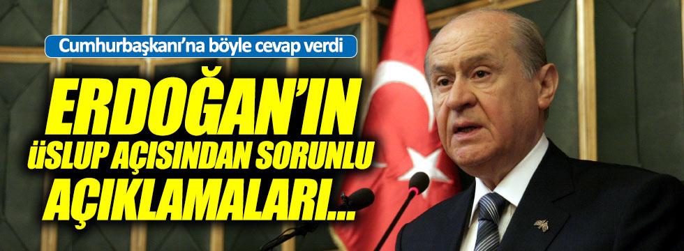 Bahçeli'den, Erdoğan açıklaması