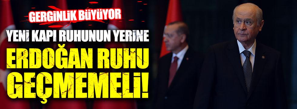 Bahçeli: Yenikapı ruhu yerine Erdoğan ruhu geçmemeli