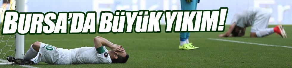 Bursaspor kendini ateşe attı
