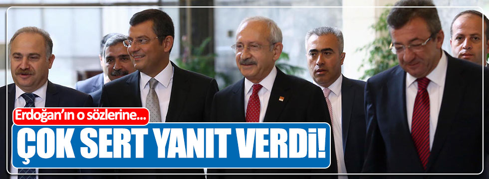 CHP'li Özel'den Erdoğan'a sert yanıt!