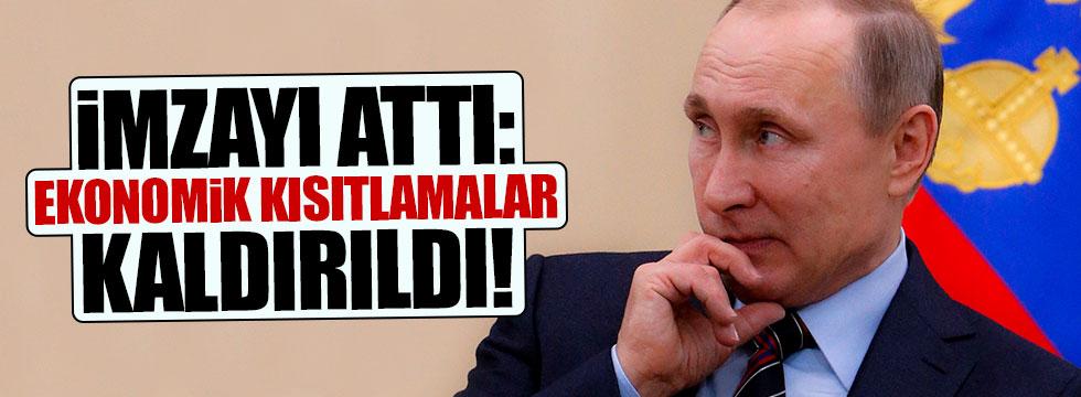 Putin imzaladı: Ekonomik kısıtlamalar kaldırıldı