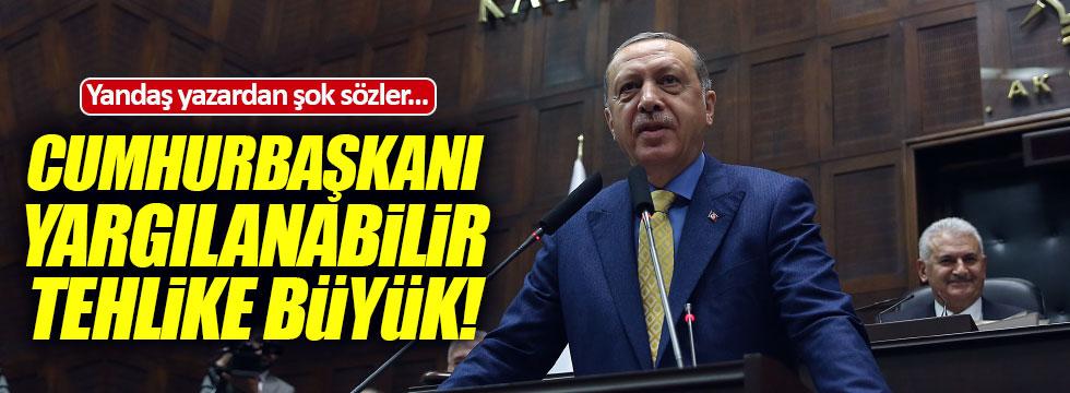 """Yandaş yazar: """"Cumhurbaşkanı yargılanabilir"""""""