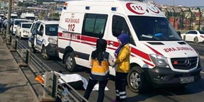 Haliç'te kaza: Trafik kilitlendi