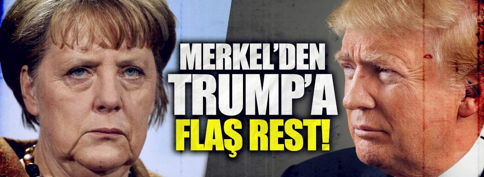 Merkel'den, Trump'a flaş rest