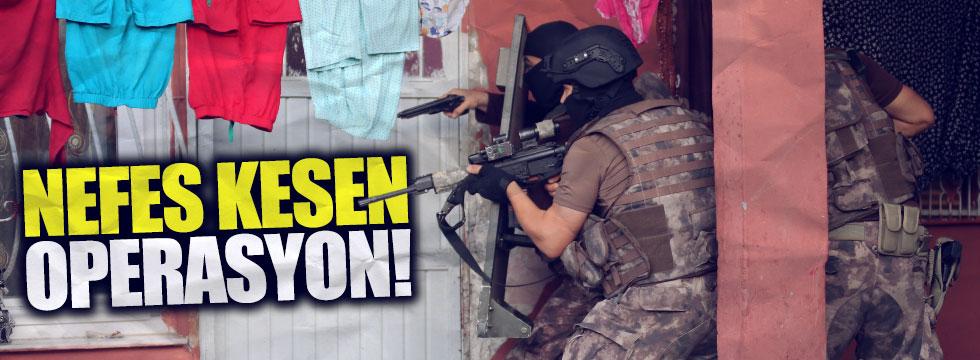 Adana'da nefes kesen operasyon
