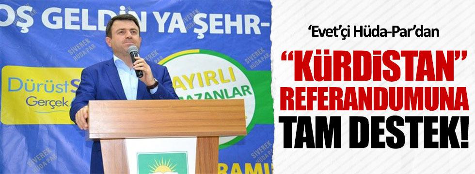 'Evet'çi Hüda-Par'dan 'Kürdistan' referandumuna tam destek