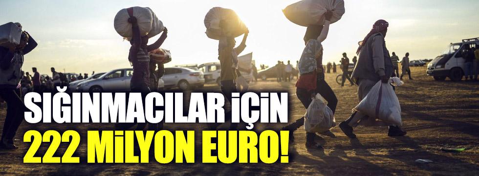 Türk Hükümeti'ne AB'den sığınmacılar için 222 milyon Euro
