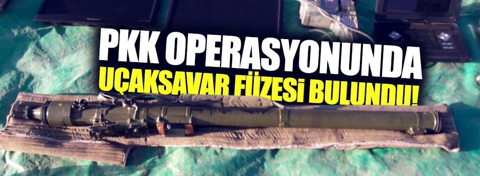 PKK operasyonunda uçaksavar füzesi bulundu!
