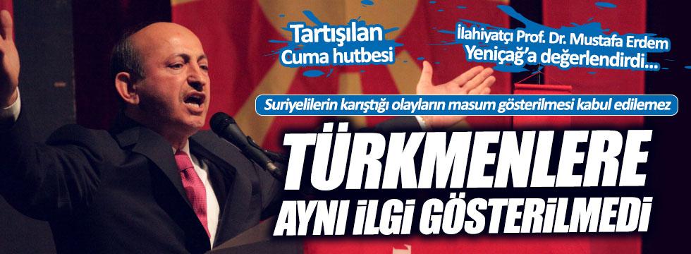 Tartışılan cuma hutbesini Prof. Dr. Mustafa Erdem Yeniçağ'a değerlendirdi