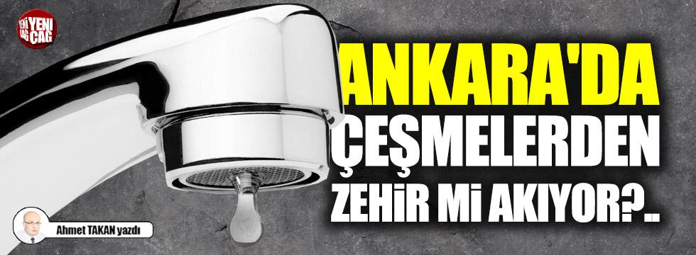 Ankara'da çeşmelerden zehir mi akıyor?..