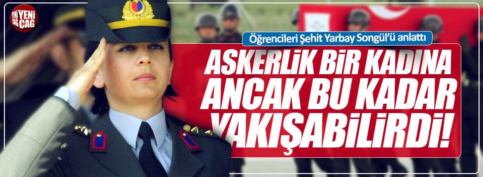 Öğrencileri şehit Yarbay Songül'ü anlattı
