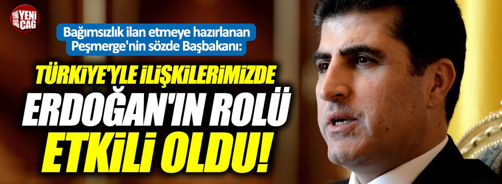 """Barzani: """"Türkiye'yle ilişkilerimizde Erdoğan'ın rolü etkili oldu"""""""