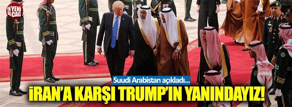"""Suudi Arabistan: """"İran'a karşı Trump'ın yanındayız"""""""