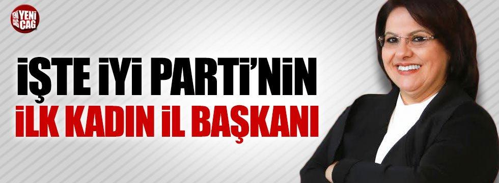 İYİ Parti'nin ilk kadın il başkanı Ünzile Yüksel oldu