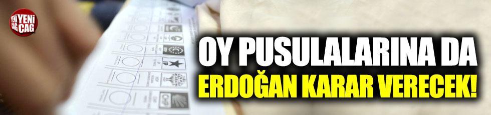 Oy pusulalarına Erdoğan karar verecek