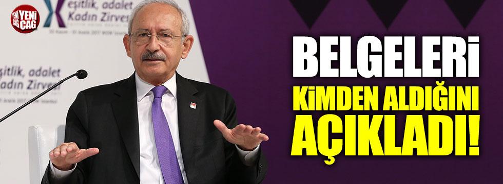 Kemal Kılıçdaroğlu belgeleri kimden aldığını açıkladı!
