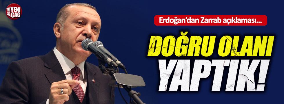 Erdoğan'dan Zarrab davası açıklaması
