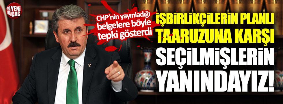 Mustafa Destici'den Meclis'te belge yayınlayan CHP'ye ağır sözler