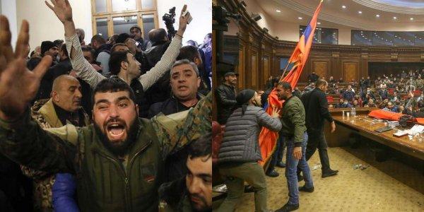 Ermenistan'da hükümet binasına baskın
