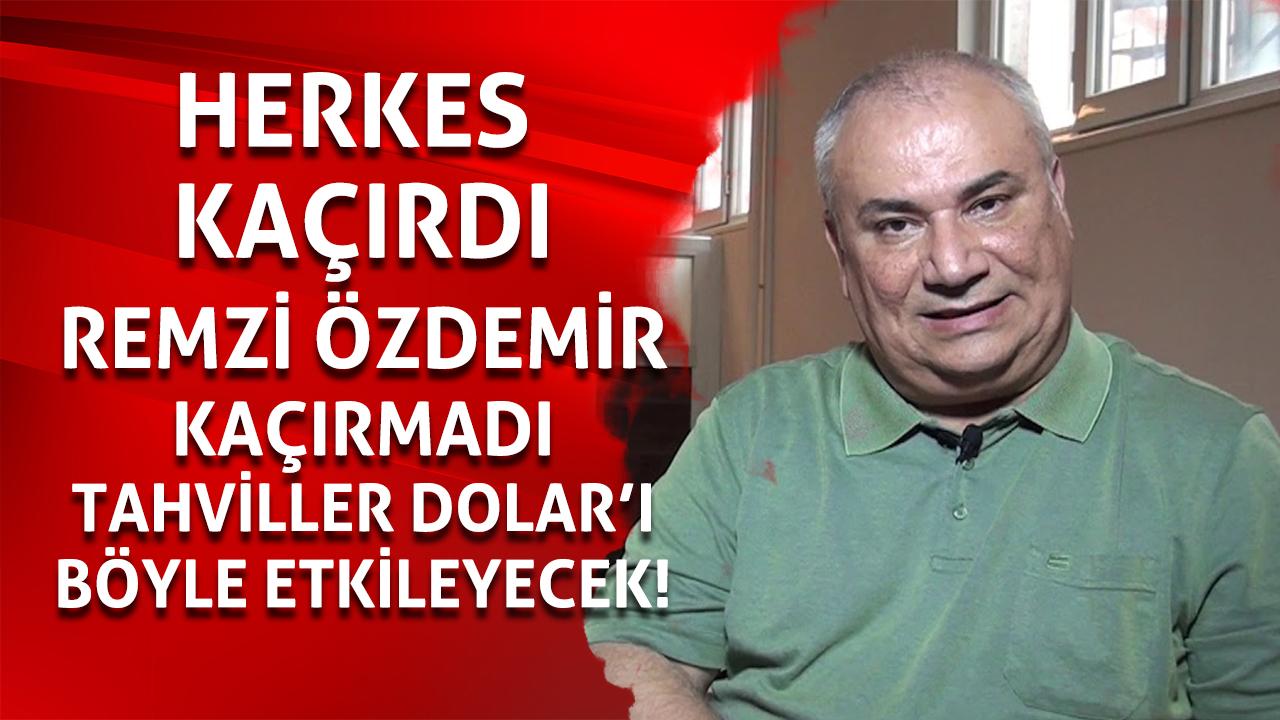 Remzi Özdemir doları bekleyen büyük tehdidi açıkladı