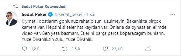 """Sedat Peker bahsi artırdı: """"Kafama sıkarım"""" dedi"""