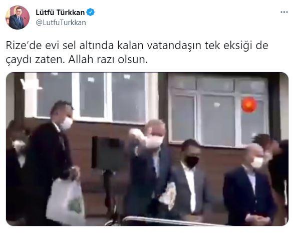 İYİ Partili Lütfü Türkkan'dan Rize'de çay dağıtan Erdoğan'a tepki geldi