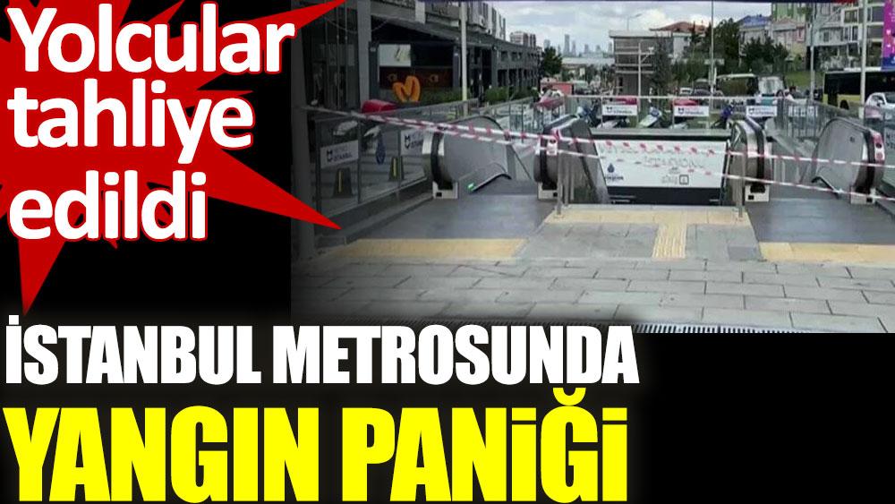İstanbul metrosunda yangın paniği. Yolcular tahliye edildi