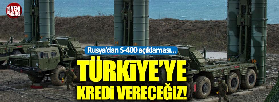 """Rusya'dan S-400 açıklaması: """"Türkiye'ye kredi vereceğiz"""""""