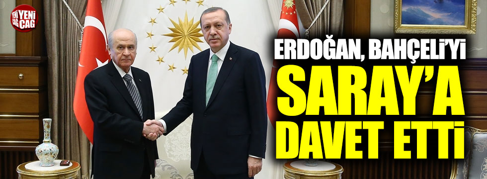 Erdoğan, Bahçeli'yi Saray'a davet etti
