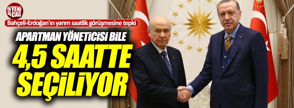 Özel'den, yarım saatlik Bahçeli-Erdoğan görüşmesine tepki