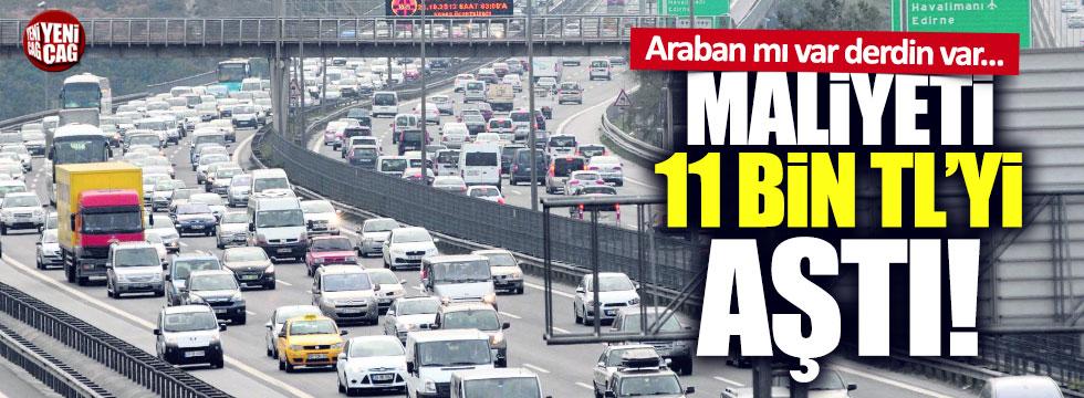 İstanbul'da otomobilin maliyeti 11 bin TL'yi geçti