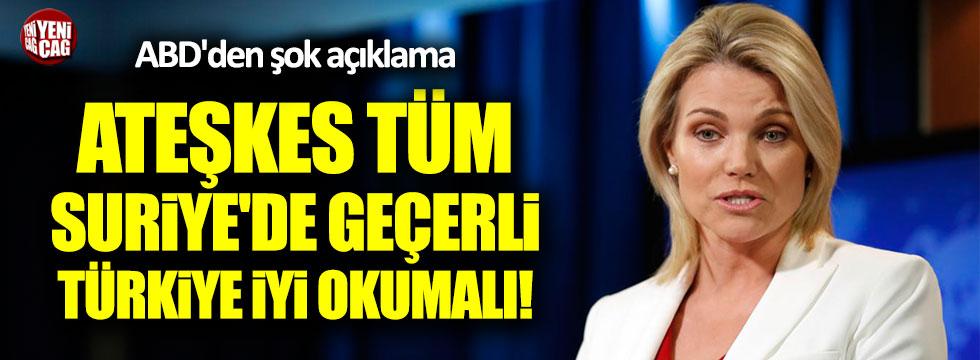ABD'den Türkiye'ye ateşkes uyarısı