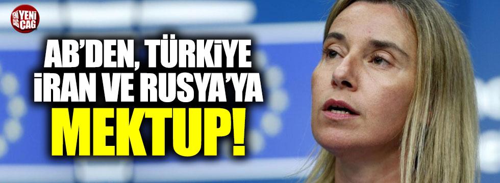 AB'den Türkiye, İran ve Rusya'ya mektup