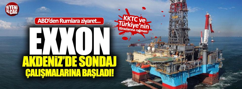 Exxon Akdeniz'de sondaj çalışmalarına başladı