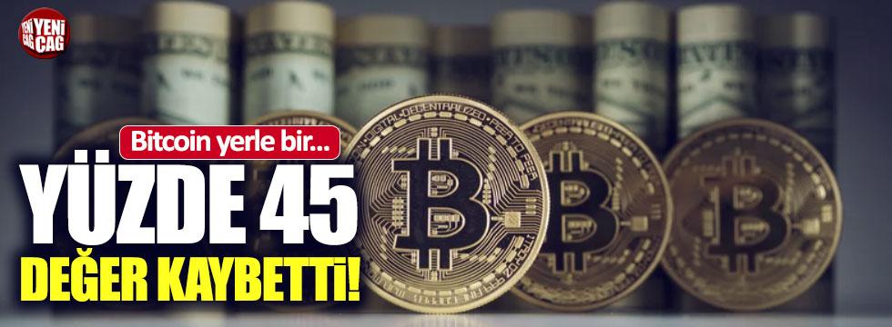 Bitcoin'in yüzde 45'i piyasadan silindi