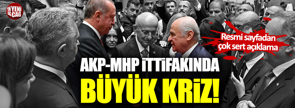 AKP-MHP ittifakı çatırdıyor!