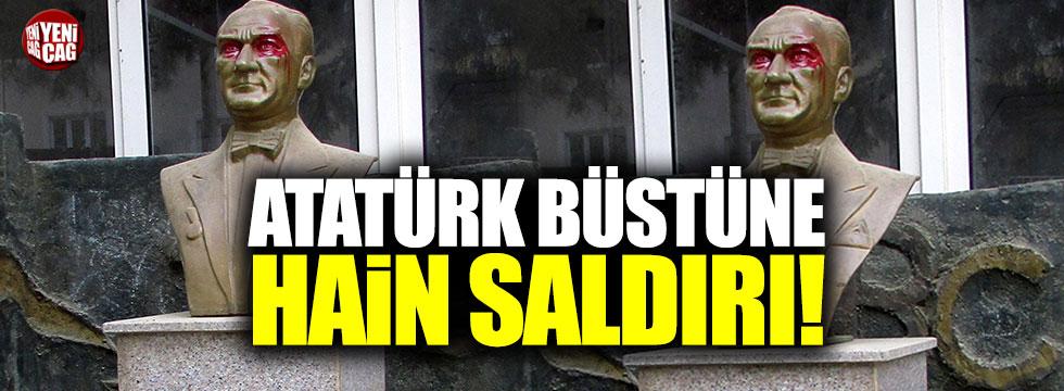 Atatürk büstüne hain saldırı!